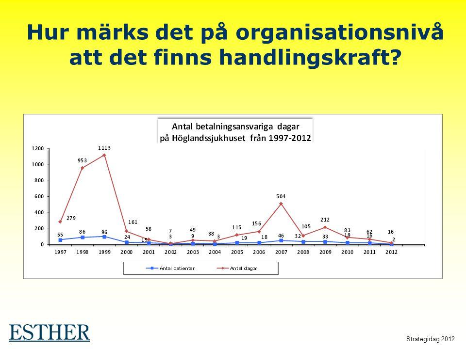 Strategidag 2012 Hur märks det på organisationsnivå att det finns handlingskraft?