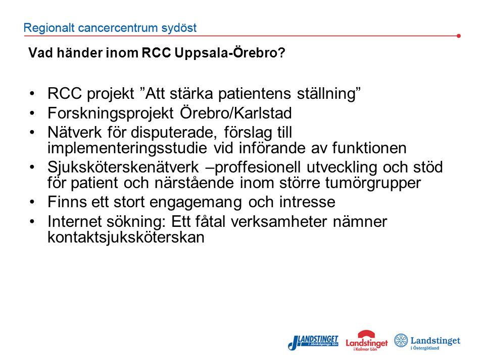 Vad händer inom RCC Uppsala-Örebro.