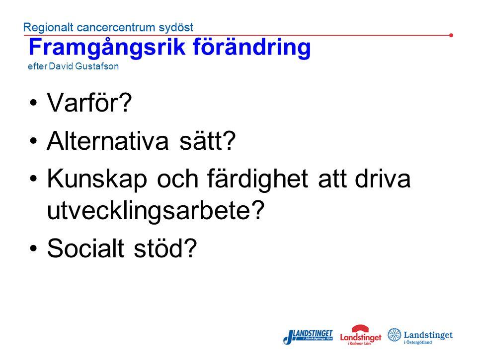 Framgångsrik förändring efter David Gustafson Varför.