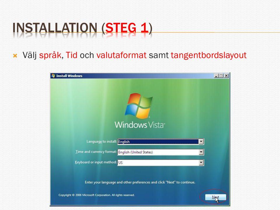  Här kan man välja att läsa viktig information  Man kan även välja att Reparerar datorn