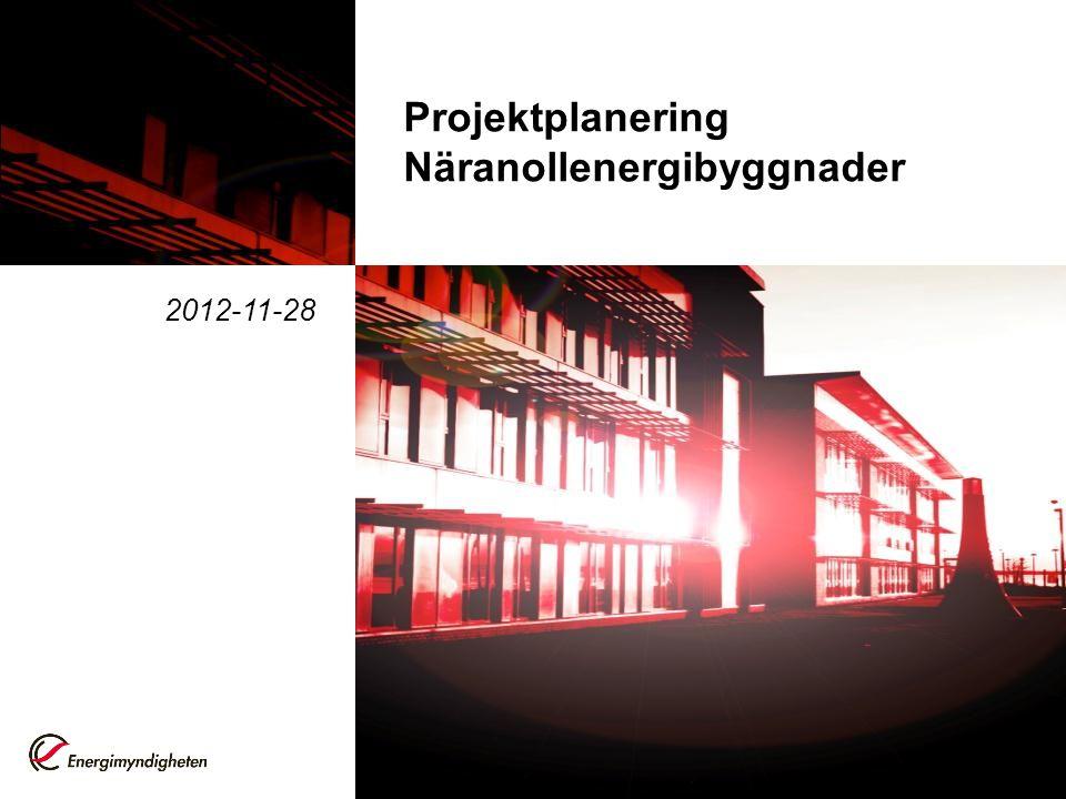 Bakgrund Regeringens skrivelse 2011/12:131 Begreppet näranollenergibyggnader bör innebära skärpta krav på energihushållning det finns idag inte tillräckligt med underlag för att ange en kvantifierad riktlinje skärpning ska bedömas på ett gediget underlag baserat på bl.