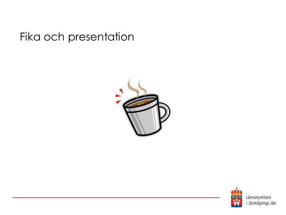 Fika och presentation