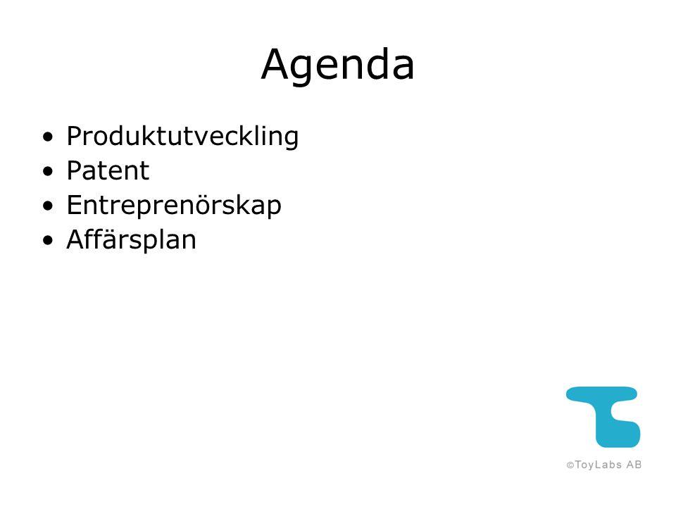 Agenda Produktutveckling Patent Entreprenörskap Affärsplan