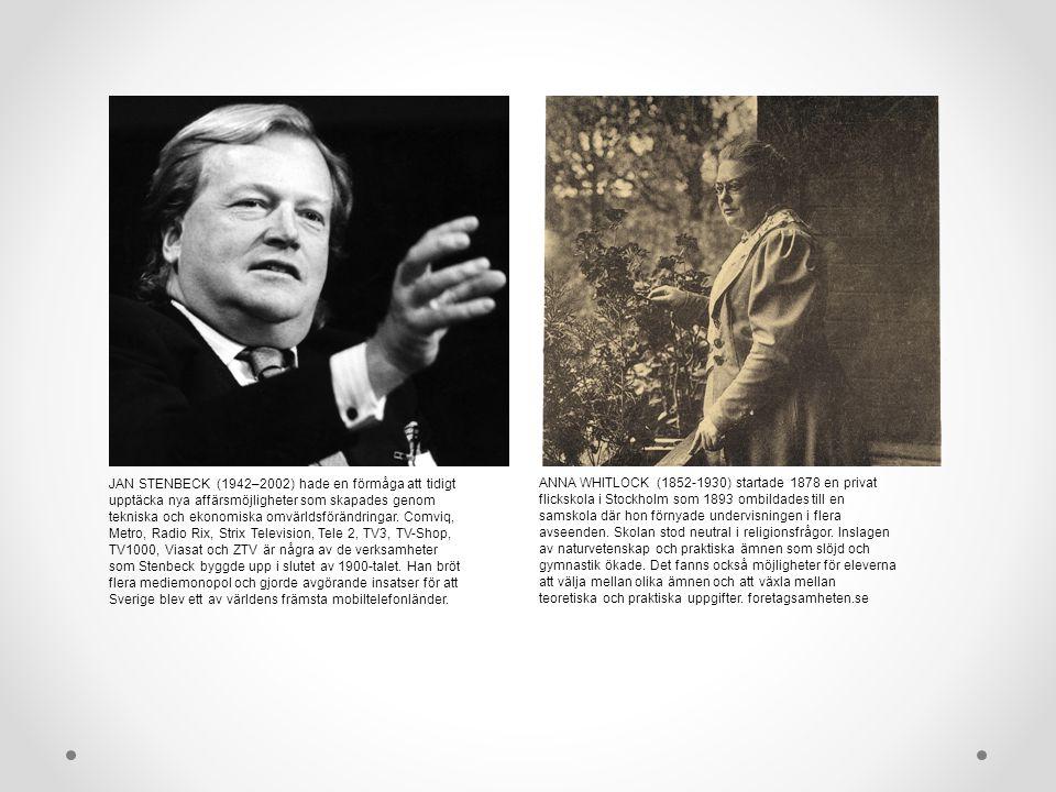 JAN STENBECK (1942–2002) hade en förmåga att tidigt upptäcka nya affärsmöjligheter som skapades genom tekniska och ekonomiska omvärldsförändringar.