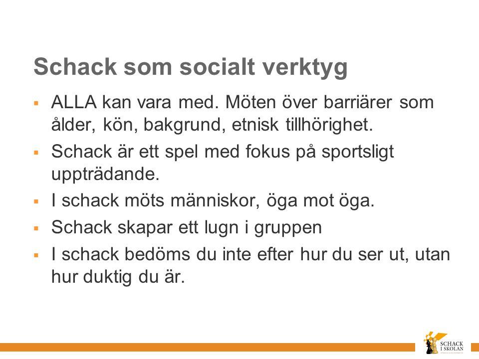 Schack som socialt verktyg  ALLA kan vara med.