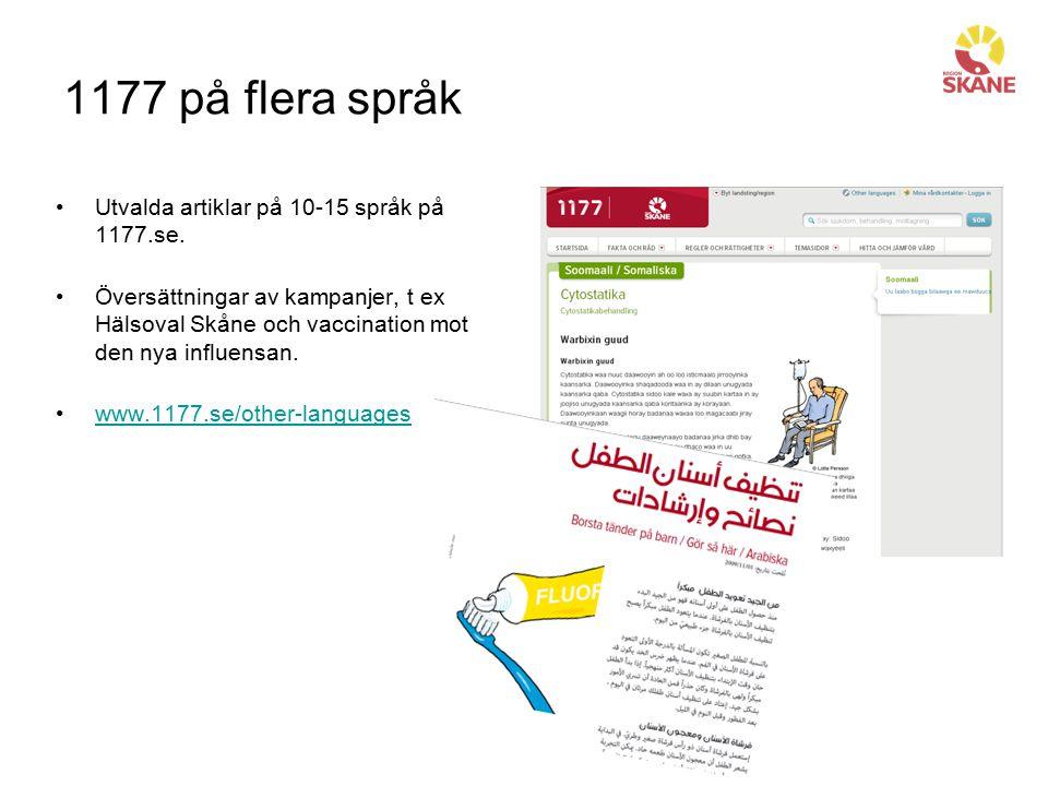 Beställa mer informationsmaterial servicelaget@skane.se Ange antal, adress samt kontaktperson