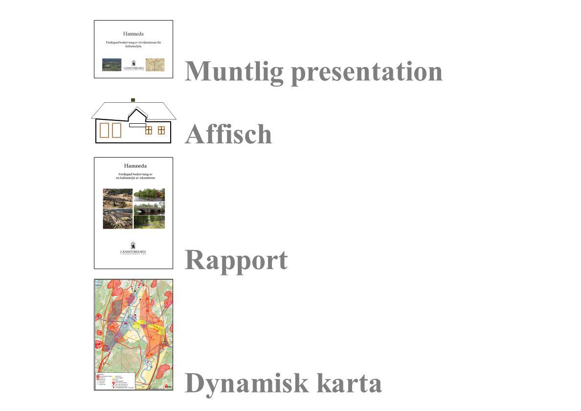 Muntlig presentation Rapport Dynamisk karta Affisch