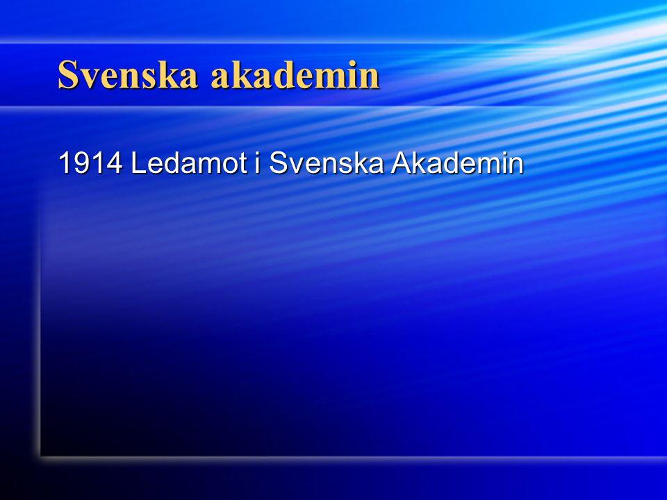 Svenska akademin 1914 Ledamot i Svenska Akademin