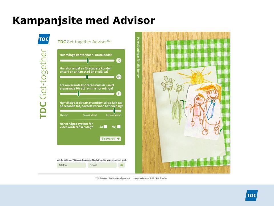 Kampanjsite med Advisor