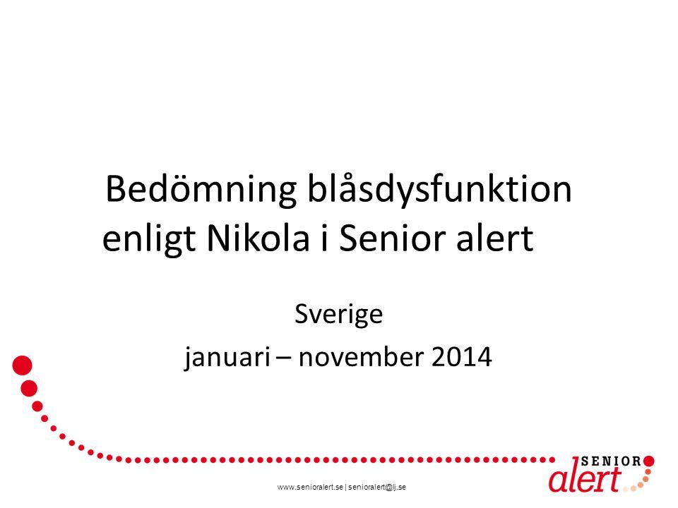 www.senioralert.se | senioralert@lj.se Bedömning Blåsdysfunktion enligt Nikola Blankett och vägledning finns på www.senioralert.se
