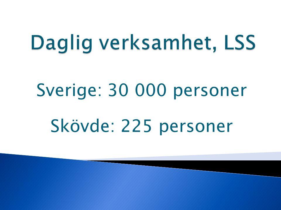 Sverige: 30 000 personer Skövde: 225 personer