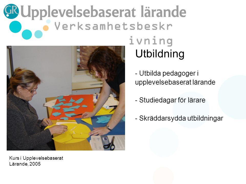 Aktion - Genomförande av utbildningsinsatser på skolor - Temapass kring olika ämnen - Särskilda insatser - Framtidens klassrum Verksamhetsbeskr ivning FN-rollspel på Hulebäck 2005