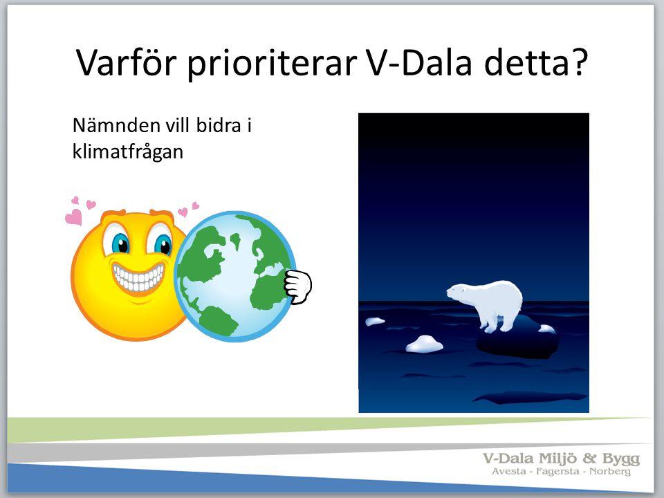 Varför prioriterar V-Dala detta? Nämnden vill bidra i klimatfrågan
