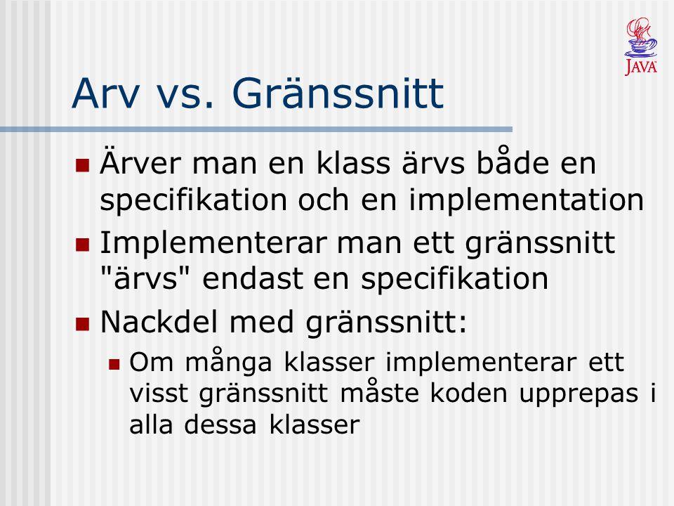 Arv vs.