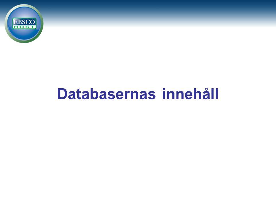 Databasernas innehåll