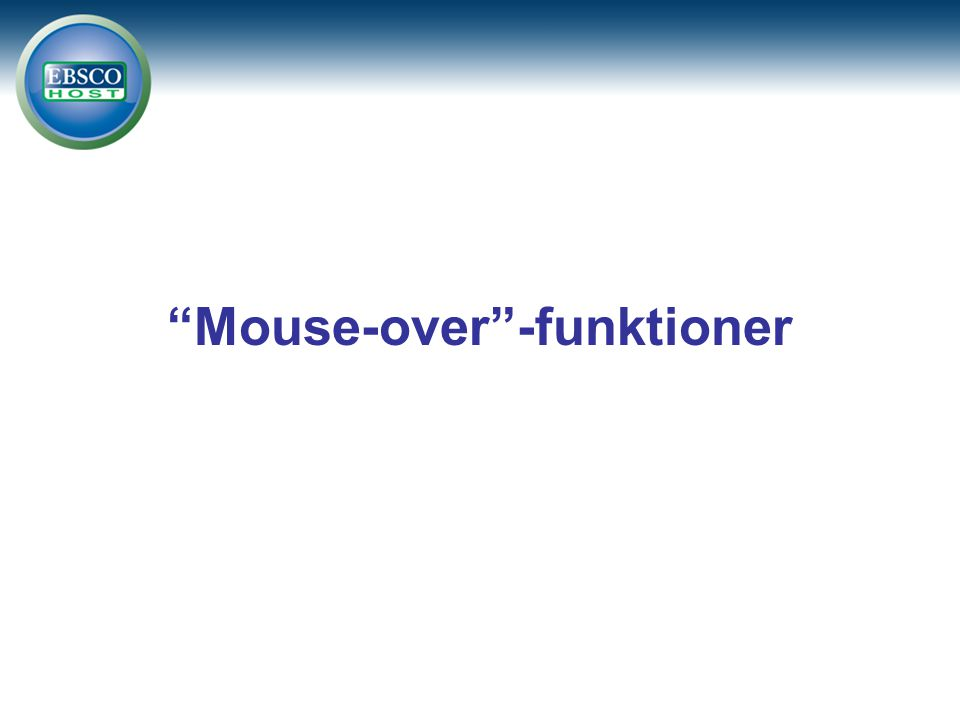 Mouse-over -funktioner