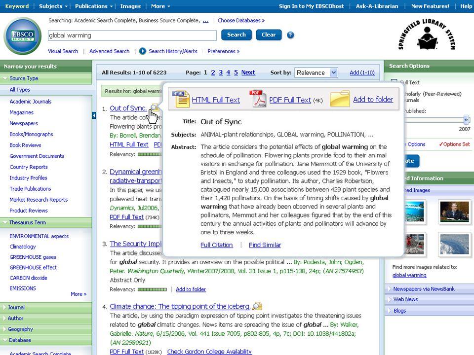 SmartText-sökning