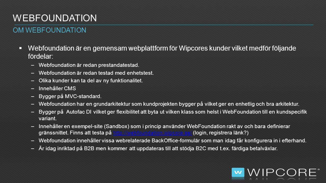 WEBFOUNDATION CMS NY SIDA  Skapa en ny controller: public class JobController : FoundationController { public SectionController(IWebFoundationResolver resolver); [ActionDefinition( Produktlistning , Listar produkter som är länkade från denna sida. , sv-SE )] [ViewDataDefinition(typeof(CmsJobViewData))] [ActionDefinition( Product list , Lists products linked from this page. , en-GB )] public virtual ActionResult List(); }  Skapa en ny sida med code behind: [ViewDefinition( Visar jobbsida , Visar en jobbsida. , sv-SE )] [ViewDefinition( Show job page , Shows an job page. , en-GB )] [AssociatedToCmsViewData(typeof(CmsJobPageViewData))] public class Job : ViewPage { }