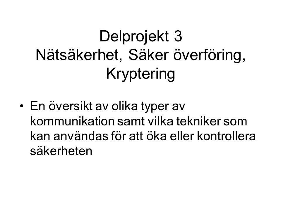Projektdeltagare DP 7 Webb Patrik Lidehäll Christina Jonsson