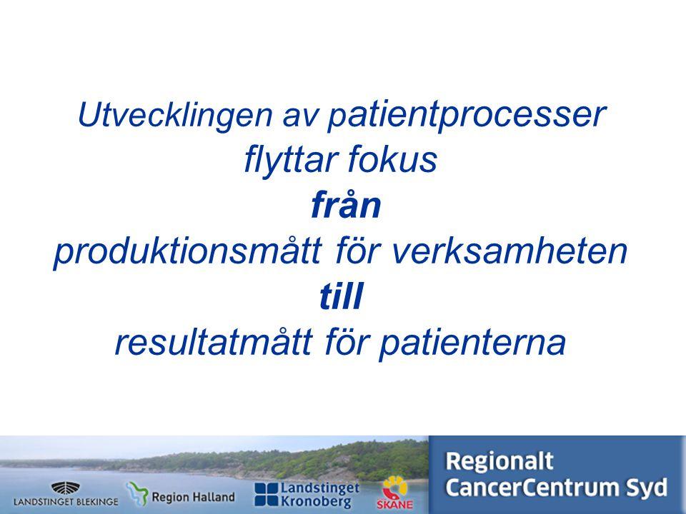 www.cancercentrumsyd.se Regionalt cancercentrum syd Samordnar Stöder Följer upp