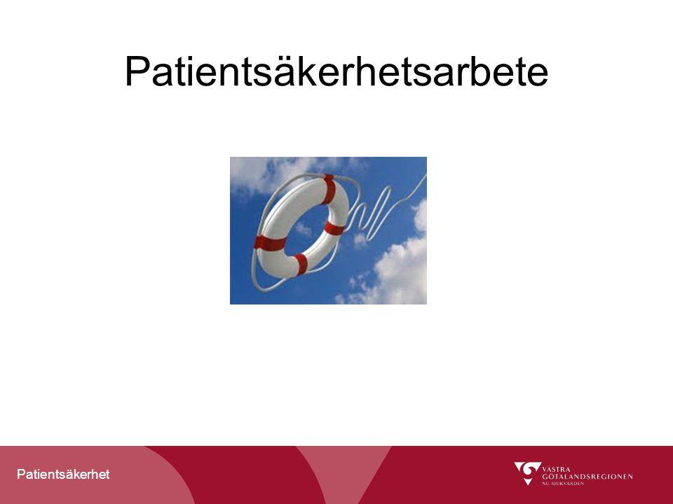 Patientsäkerhet Patientsäkerhetsarbete