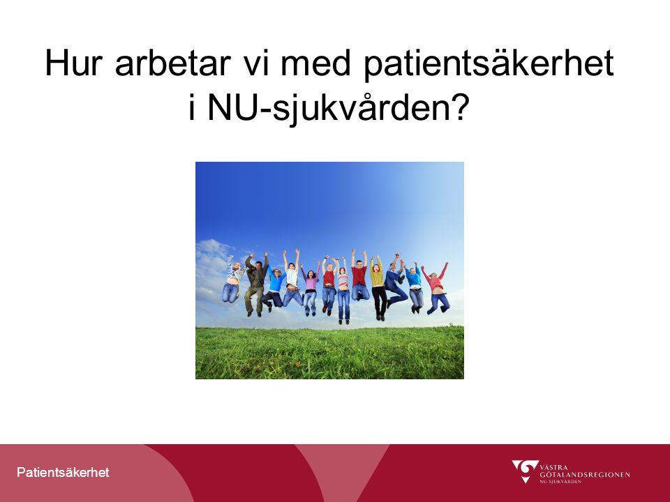 Patientsäkerhet Krav på god vård enligt HSL Kunskapsbaserad och ändamålsenlig vård Säker vård Patientfokuserad vård Effektiv vård Jämlik vård Vård i rimlig tid