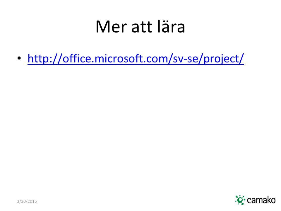 3/30/2015 Mer att lära http://office.microsoft.com/sv-se/project/