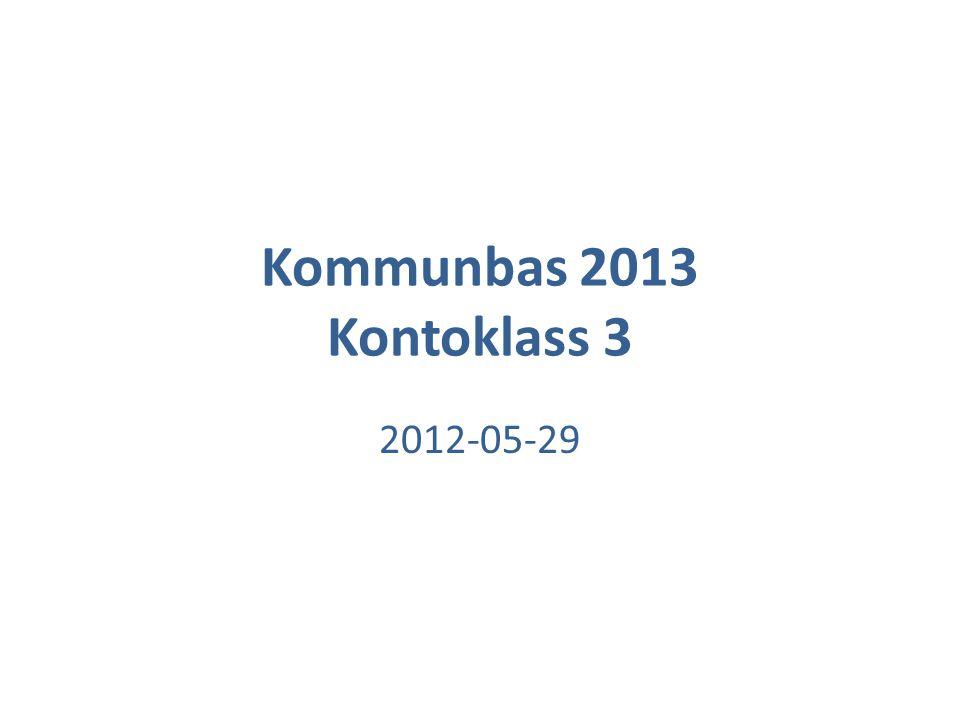 Kommunbas 2013 Kontoklass 3 2012-05-29