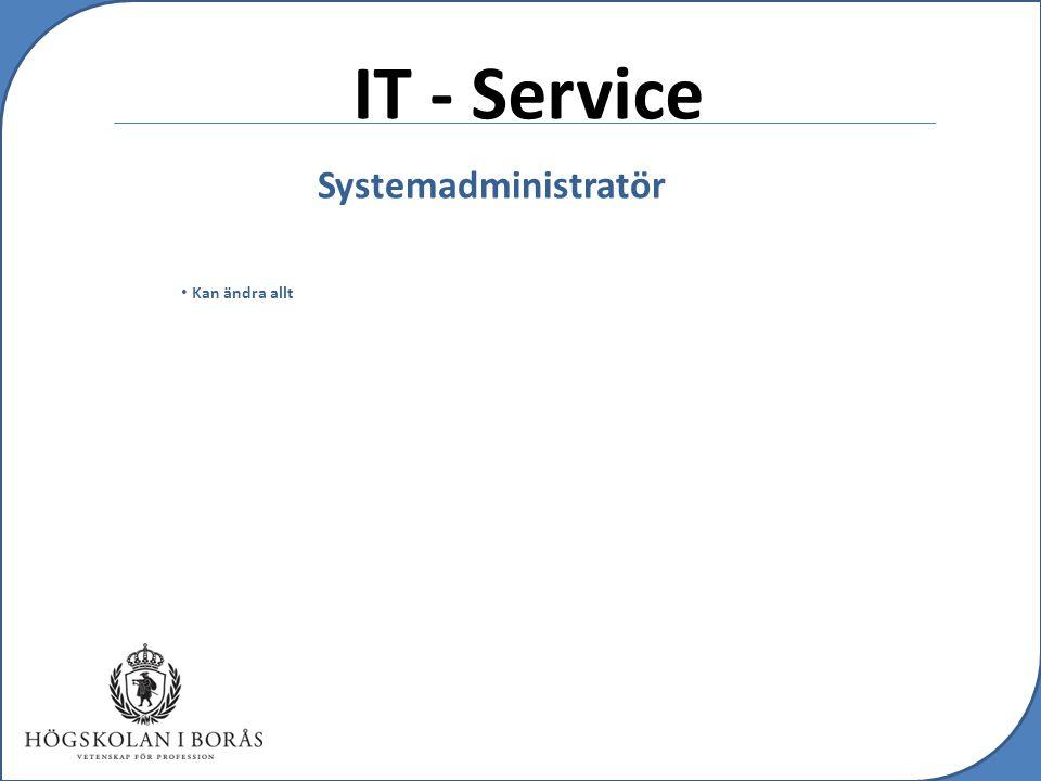 IT - Service Systemadministratör Kan ändra allt