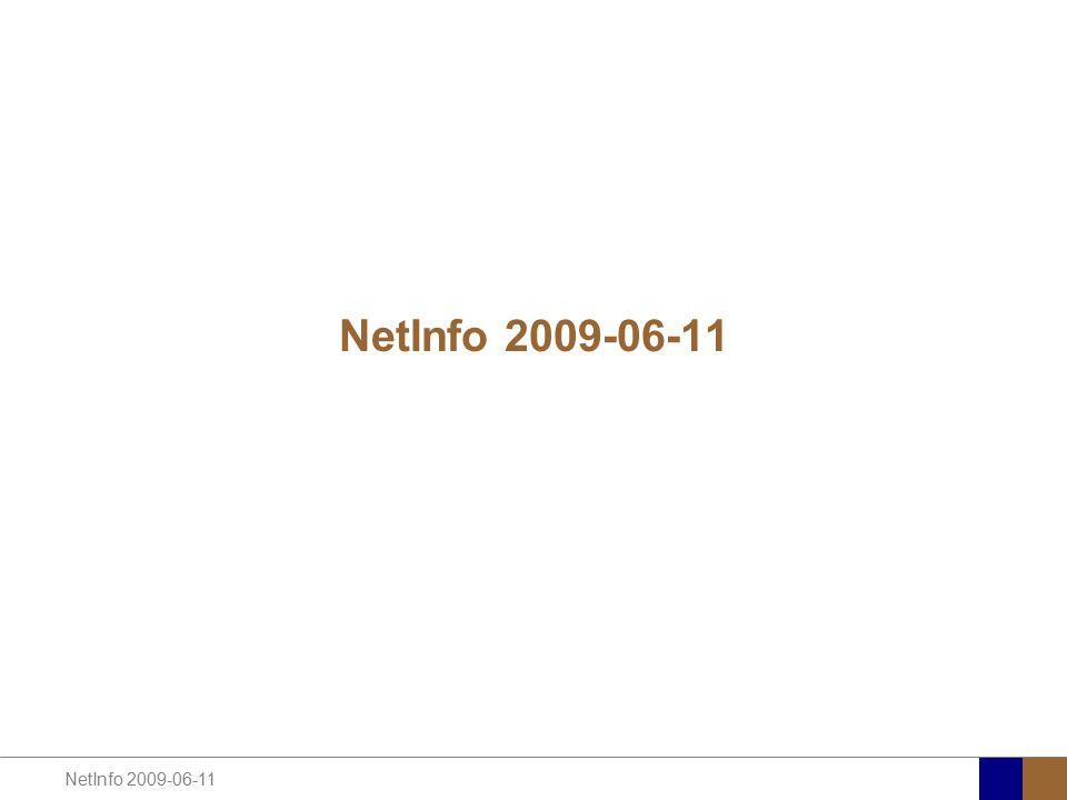 NetInfo 2009-06-11