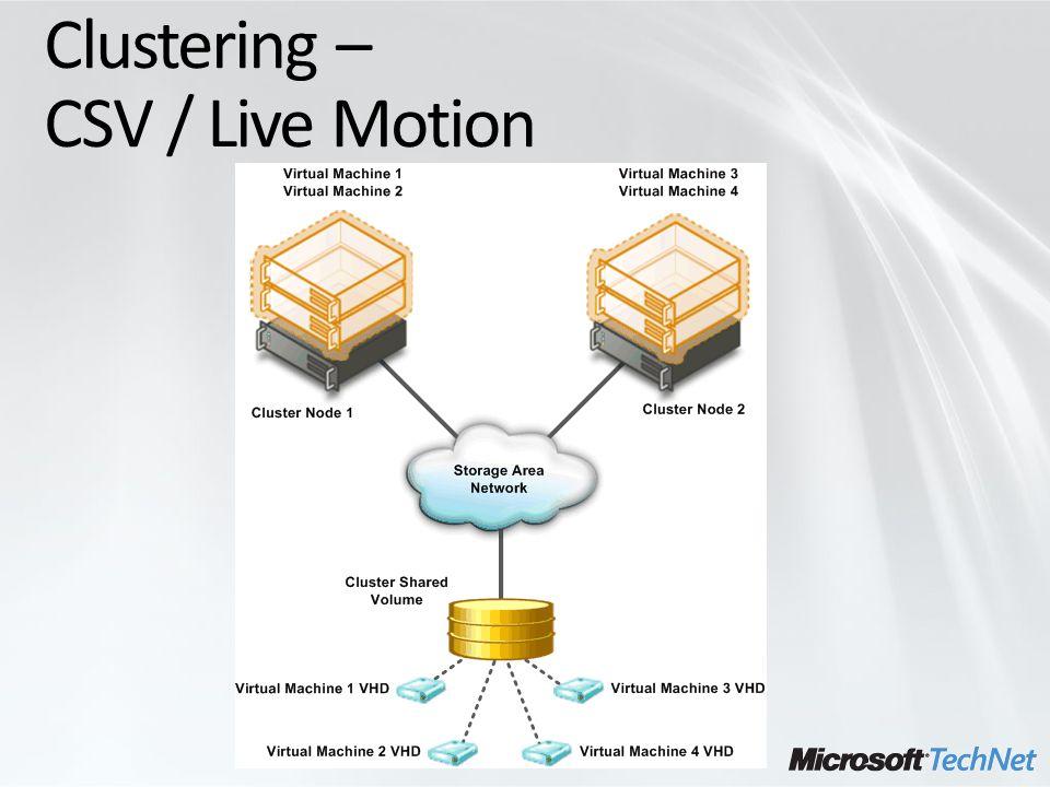 Clustering – CSV / Live Motion