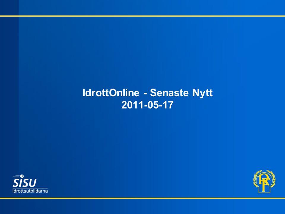 IdrottOnline - Senaste Nytt 2011-05-17