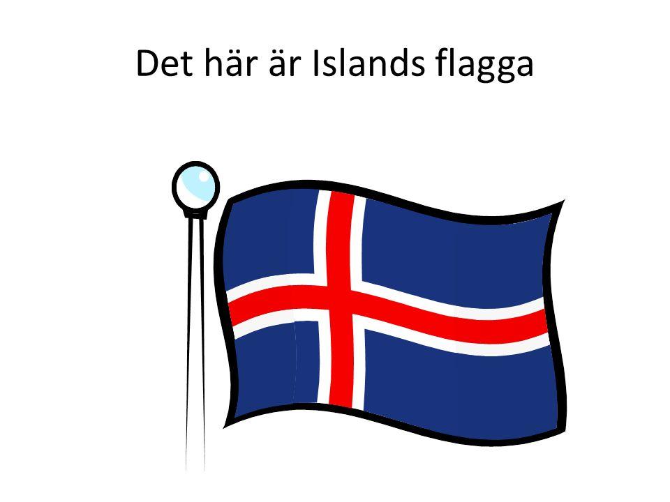 Det här är Islands flagga