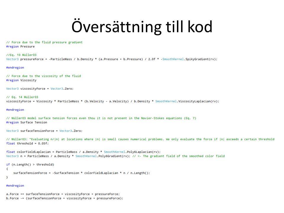 Översättning till kod