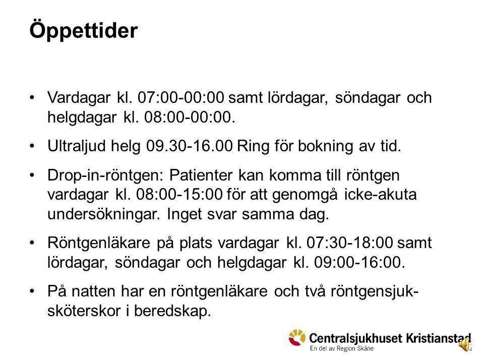 3 Kontaktuppgifter och verksamhet Du når oss: Röntgenläkare dygnet runt (9)959 96 Röntgensköterska 1 i beredskap (9)959 94 Röntgensköterska 2 i beredskap (9)959 95 e-post rontgen.ystad@skane.se.rontgen.ystad@skane.se Läs på intranätet om våra tjänster, metoder m.m.