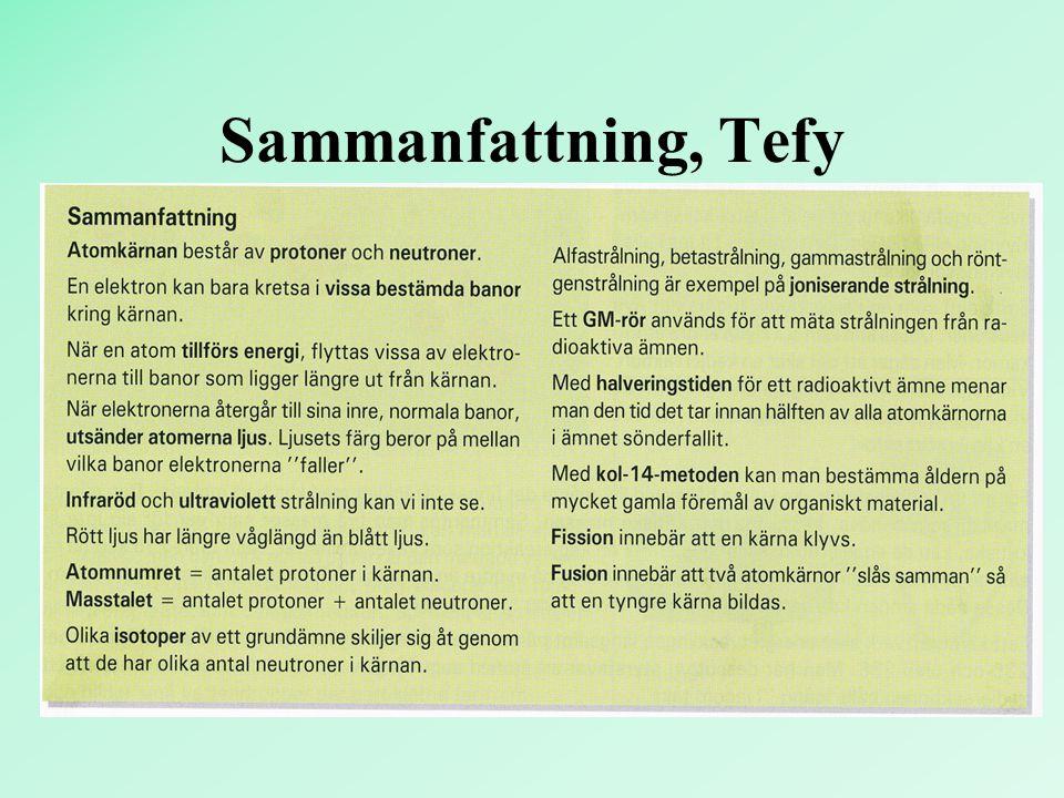 Sammanfattning, Tefy