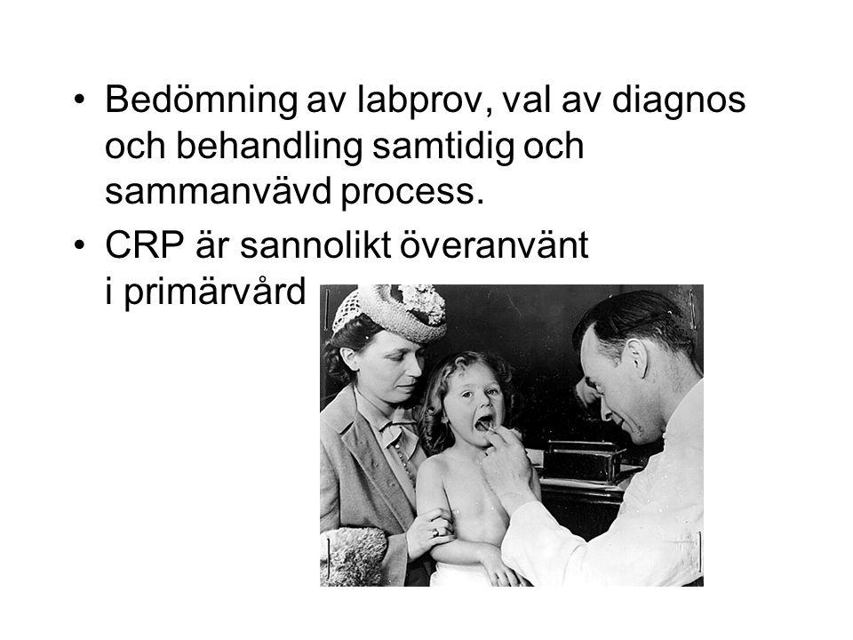 Bedömning av labprov, val av diagnos och behandling samtidig och sammanvävd process.