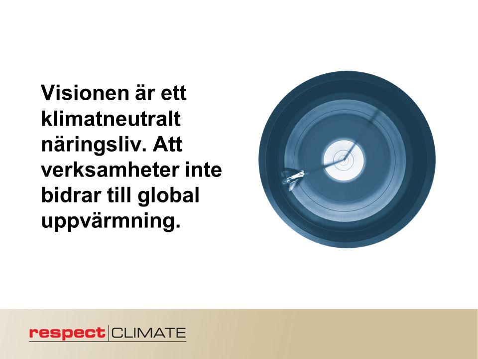 Visionen är ett klimatneutralt näringsliv. Att verksamheter inte bidrar till global uppvärmning.