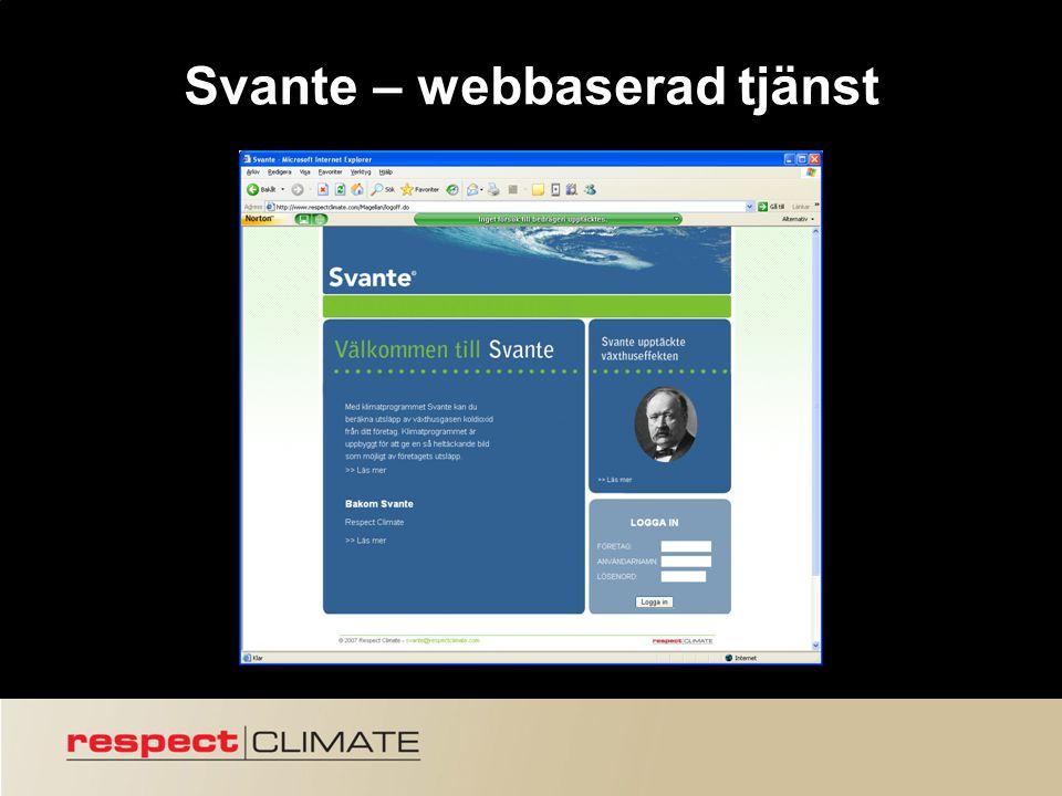 9 Svante – webbaserad tjänst