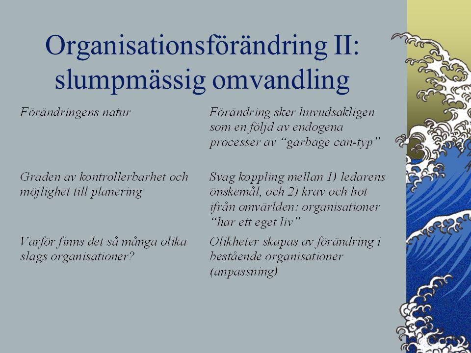 Organisationsförändring II: slumpmässig omvandling