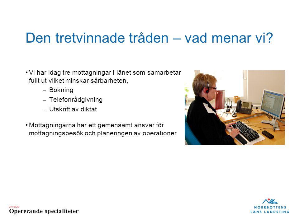 DIVISION Opererande specialiteter Vägen hit.