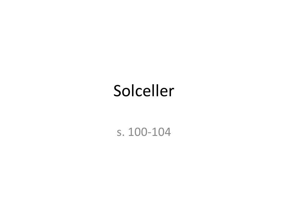 Solceller s. 100-104