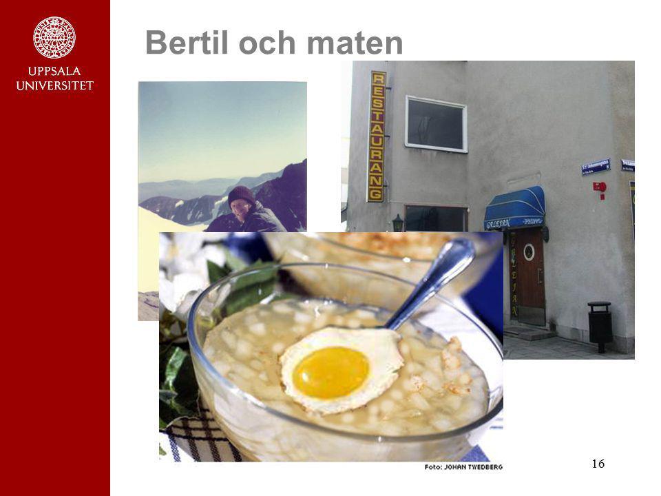 16 Bertil och maten