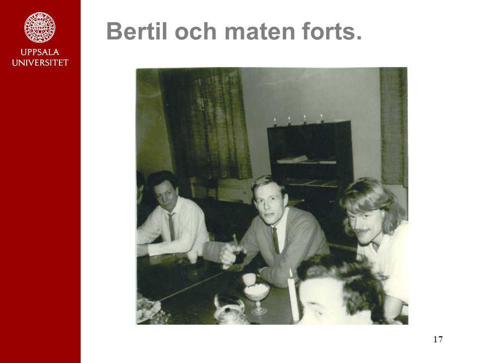 17 Bertil och maten forts.