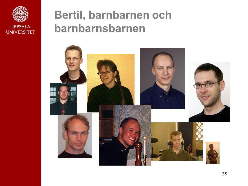 25 Bertil, barnbarnen och barnbarnsbarnen
