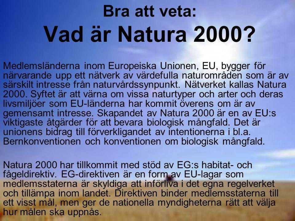 Bra att veta: Vad är Natura 2000.