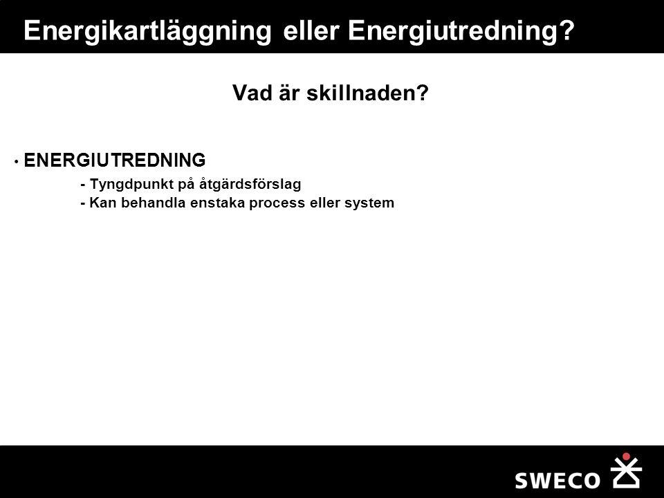 Energikartläggning Hur gör man?
