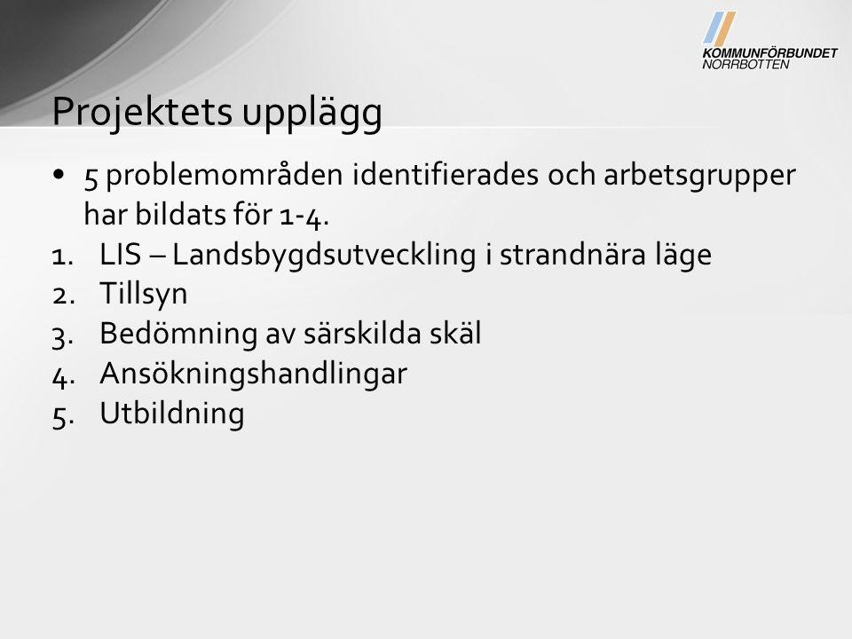 5 problemområden identifierades och arbetsgrupper har bildats för 1-4.