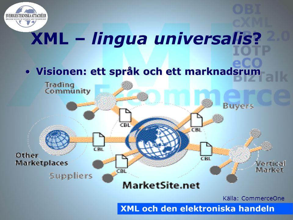 XML – lingua universalis.