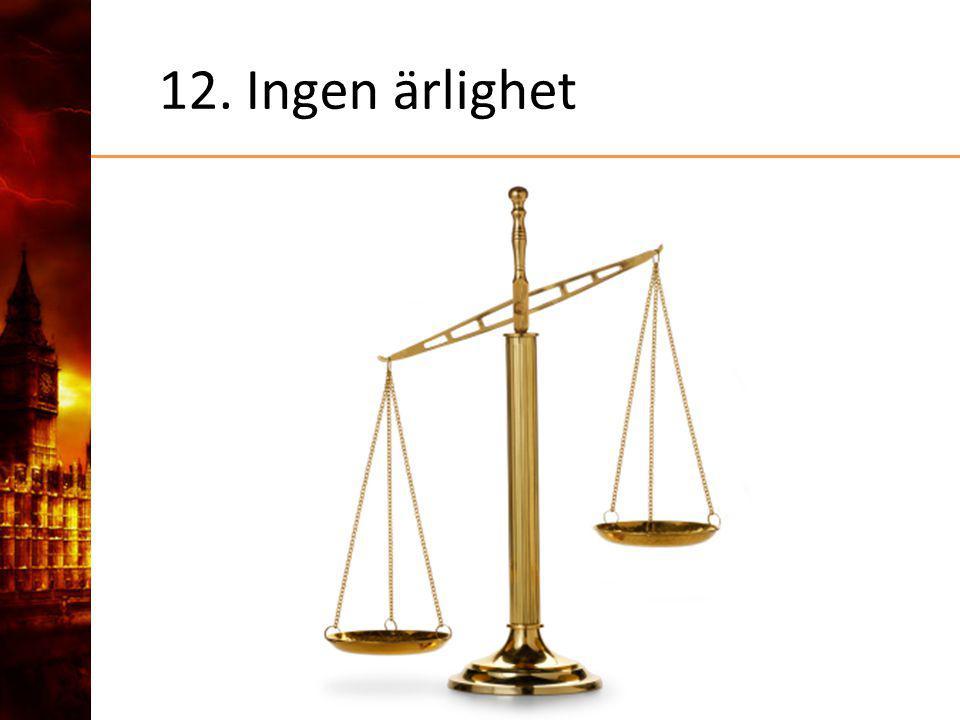 12. Ingen ärlighet